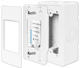 external wall box for touch screen HMI controllers