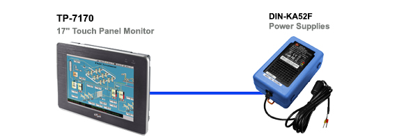 TP-7170 touch screen monitors Application Diagram