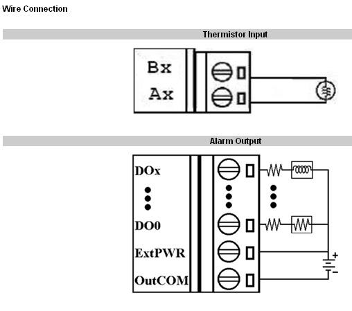 ford 900 wiring diagram ex600 wiring diagram i-7005 | 8 thermistor input, 6 alarm output data ... #8