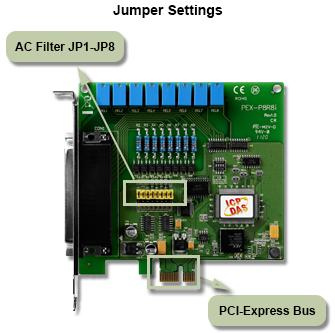 jumper card for PEX-P8R8