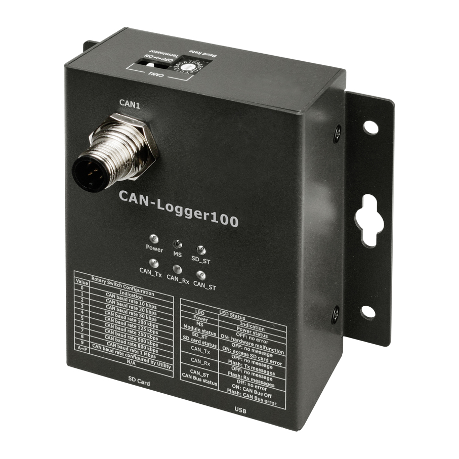 Can Logger100 1 Port Bus Data Logger Compatible With Circuit Of Pcbased Is Designed Around Analog To Digital Specification 20 A And B