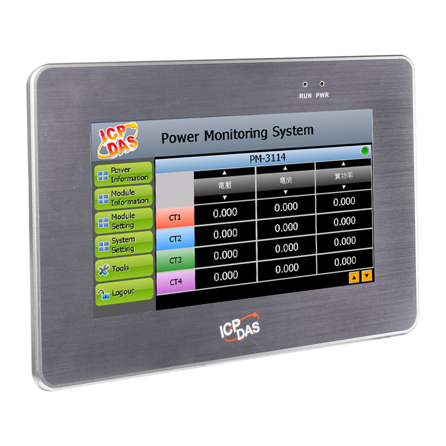 Pmd 2201 7 Quot Power Meter Concentrator With Touch Panel