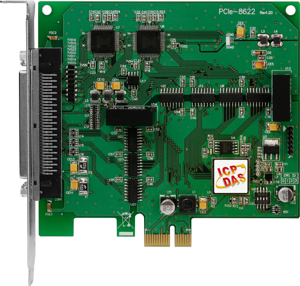PCIe-8622 | PCI Express, 200 kS/s High-speed, 16-bit 8/16-channel