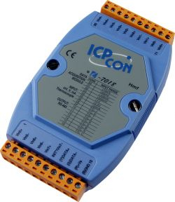8 Channel Voltage Input, Current Input, & Thermocouple Input Data Acquisition Module with Input Types J, K, T, E, R, S, B, N, and C.   Communicable over RS-485 and comes with FREE EZ Data Logger Software. Supports operating temperatures between -25°C ~ +75°C (-13°F ~ +167°F).