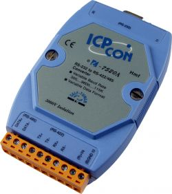 RS-232 to RS-422/RS-485 Converter.  Supports operating temperatures between -25 to 75°C.