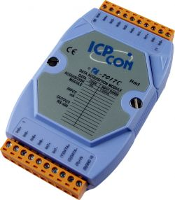 8 Channel Analog Input Data Acquisition Module with 0-20mA , 4-20mA , ±20mA  Current Inputs, communicable over RS-485, and FREE EZ Data Logger Software. Supports operating temperatures between -25°C ~ +75°C (-13°F ~ +167°F).