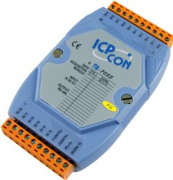 Non Isolated 16 Channel Digital Input (Counter) Data Acquisition Module.  Communicable over RS-485. Supports operating temperatures between -25°C ~ +75°C (-13°F ~ +167°F).