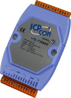 Embedded Controller, programmable in ISaGRAF IEC-1131 Development Suite with 40 Mhz CPU. Supports operating temperatures between -25 to 75°C.