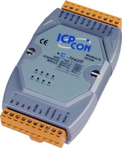 4 Channel Relay Output & 4 Channel Isolated Digital Input Counter Data Acquisition Module. Communicable over Modbus RTU and RS-485 with LED Display, supports operating temperatures from -25 to 75°C