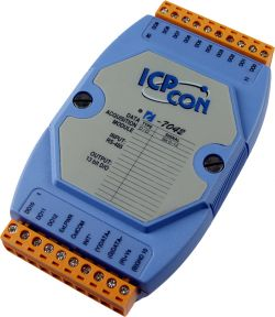 13 Channel Isolated Digital ICP CON Output Data Acquisition Module communicable over RS-485. Supports operating temperatures between -25 to 75°C.