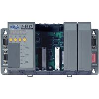 Rack Mount Controller: 512K flash, 512K SRAM, and optional 10BaseT Ethernet Port. MiniOS7 Operating System. Available in 4 & 8 slot configurations.  (4 x slot: 512K / 512K)