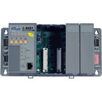 Rack Mount Embedded Ethernet Controller: 256/512K flash, 256/512k SRAM, 10BaseT Ethernet Connection, MiniOS7 Operating System. Available in 4 & 8 slot capacity (4 x slot: 512k / 512k)