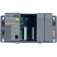 Rack Mount Embedded Ethernet Controller: 256/512K Flash, 256/512k SRAM, 10BaseT Ethernet Connection, MiniOS7 Operating System. Available in 4 & 8 slot capacity  (4 x slot: 512K / 512K + 80 MHz CPU)