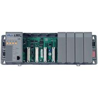 Rack mount embedded Ethernet controller: 256/512K flash, 256/512k SRAM, 10BaseT connection. Available in 4 & 8 slot capacity