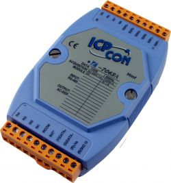 Digital Input (Counter) Data Acquisition Module (AC SSR type) communicable over RS-485. Supports operating temperatures between -25 to 75°C.