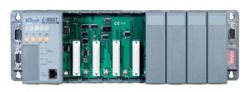 ISaGRAF Rack Mount Controller with 512K flash, 512K SRAM, and optional 10BaseT Ethernet Port. Available in 4 & 8 slot configurations  (8 x slot: 512K / 512K) with MiniOS7
