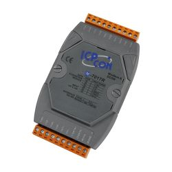8 Channel Voltage Input & Current  Input Analog Input Data Acquisition Module, communicable over Modbus RTU and RS-485.  M-7017C is Current Input Version.  M-7017R has High Over Voltage Protection