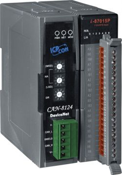 DeviceNet Embedded Device with 1 I/O Expansion.  Formerly I-8KDNS1.