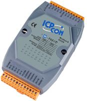 16 Channel Isolated Digital Input  (Counter) Data Acquisition Module, communicable over Modbus RTU and RS-485.  M-7051D with Display, supports operating temperatures from -25 to 75°C