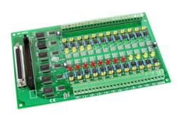 24 Channel Opto-Isolated Input Board.  DB-24PD with D-Sub 37 connector