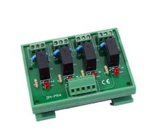4 Channel Power Relay Module, 1 Form C with Optional Din-Rail Mount