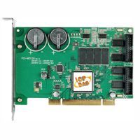 Universal PCI, 512K bytes Memory Board with 20 Digital Inputs and 16 Digital Outputs.  Two Li-batteries allow for battery-backup of SRAM data