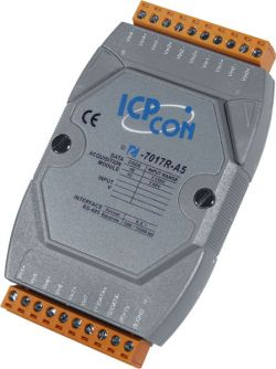 High Voltage Input & 8 Channel Analog Input Data Acquisition Module communicable over RS-485. Supports input types +/-50V and +/-150V DC. Supports operating temperatures between -25°C to 75°C (+13°F ~ +167°F).