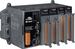 WinPAC Programmable Automation Controller with 4 I/O Slots and Windows CE.NET 5.0.  Supports operating temperature of -25°C to +75°C.  Comes with Free eLogger Configurable Control and Monitoring software.
