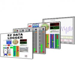 Advanced EZ Data Logger:  Easy-to-use Data Logging Software for advanced applications with up to 1024 I/O tags.