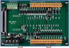 Kit with Daughter board (Din-Rail mountable wiring terminal board) and CA-3710D Male D-Sub cable 1M for I-8092F