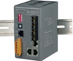 Single-mode, SC Connector, 3-Port 10/100 Base-T(X) + 2-Port 100 Base-FX Fiber Real-time Redundant Ring Switch