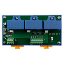 3-channel current input sensor with channel to channel isolation.  Can be used to monitor current from inverters in solar panel and wind turbine applications and turn the current into voltage which can be measured with an analog input type data acquisition module for analysis.
