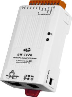 Ethernet/IP adapter to Modbus RTU Master and Modbus TCP Client Gateway, communicable over Modbus RTU, Modbus TCP, and EtherNet/IP protocols. Supports operating temperatures between -25°C ~ +75°C (-13°F ~ +167°F).