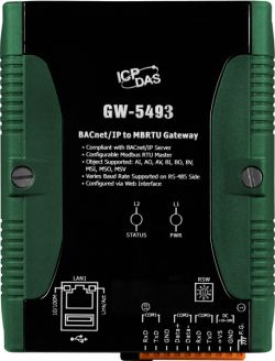 BACnet/IP Server to Modbus TCP Client Gateway