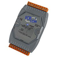 4-channel Isolated Digital Input (Counter) and 4-channel Relay Output Module with Voltage Input, DCON and Modbus RTU Protocol, supports operating temperatures from -25 ~ +75°C