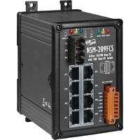 Unmanaged 8-Port Industrial 10/100 Base-T with 100 Base-FX Fiber Switch with SC Connector; Single-mode