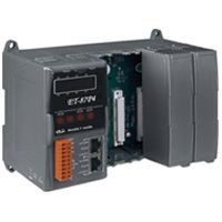 4 Slots I/O Expansion Unit with 2 10/100 Base TX RJ-45 Ethernet ports.  Din rail mountable.  Supports daisy chain Ethernet cabling.  Supports operating temperatures of -25 ~ +75C