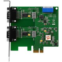 PCI Express, Serial Communication Board with 2 RS-232 ports, supports operating temperatures from 0 °C ~ +60 °C