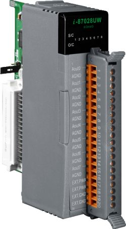 8-channel 16-bit Isolated Source Type Voltage or Current Output Module (Gray Cover) (RoHS)