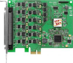 PCI Express, 8 bit 96-channel DIO board. Has operating temperature range of 0°C ~ +60°C (+32°F ~ +140°F)