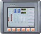 Win-GRAF ViewPAC Programmable 5.7'' Touch Screen Controller with 3 I/O slots, Windows CE 7. AM3352 720 Mhz CPU, 256 MB Flash, 512 MB RAM, microSD, 1 ethernet port, 2 RS-232/RS-485.