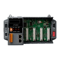 The IP-8441 is the compact size PAC(Programmable Automation Controller). It supports a variety of connectivity options including Dual 10/100 Base-TX Ethernet ports, one RS-232/485 port, one RS-485 port and two RS-232 ports, and 4/8 slots for high performance Parallel I/O modules (high profile I-8K series) and Serial I/O modules (high profile I-87K series), etc. It has a wide range of operating temperature (-25 ~ +75°C).