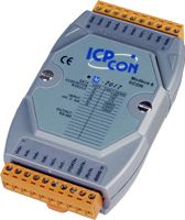 8 Channel Voltage Input & Current Input, Analog Input Data Acquisition Module. Communicable over Modbus RTU and RS-485. Supports operating temperatures between -25 to 75°C. Input types include +/-150mV, +/-500mV , +/-1V, +/-5V, +/-10V and +/-20mA.