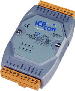 4 Channel Relay Output & 4 Channel Isolated Digital Input Data Acquisition Module communicable over Modbus RTU and RS-485, supports operating temperatures from -25 to 75°C