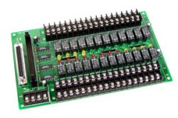 24-Channel Relay Output Board.  DB-24R/D with D-Sub 37 connector.  DB-24PR with Power Relay Board.  Available in 12V or 24V