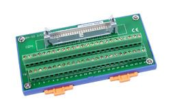 I/O Connector Block with 50-Pin Header and DIN-Rail Mount. Includes CA-5015 (50-pin Flat Cable 1.5m)