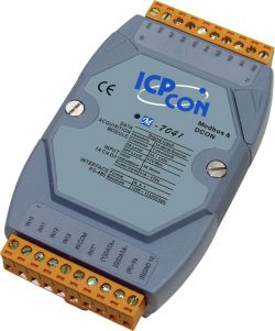 14 Channel Isolated Digital Input  (Counter) Data Acquisition Module, communicable over Modbus RTU and RS-485, supports operating temperatures from -25 ~ 75°C