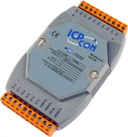 16 Channel Digital Input Data Acquisition Module, communicable over Modbus RTU and RS-485, supports operating temperatures from -25 to 75°C