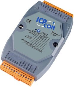 8 Channel Isolated Digital Input (Counter) and 8 Channel Isolated Digital Output Data Acquisition Module, communicable over Modbus RTU and RS-485, supports operating temperatures from -25 ~ 75°C