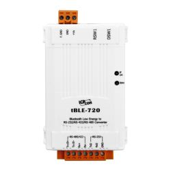 tBLE-720 RS-232/RS-422/RS-485 to Bluetooth Low Energy Converter. Operating temperature -25°C ~ +75°C.